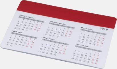 Röd Bra musmattor med kalender - med reklamtryck