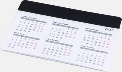Svart Bra musmattor med kalender - med reklamtryck