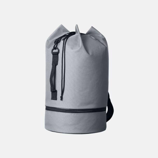 Grå Sjömansväskor i polyester med tryck