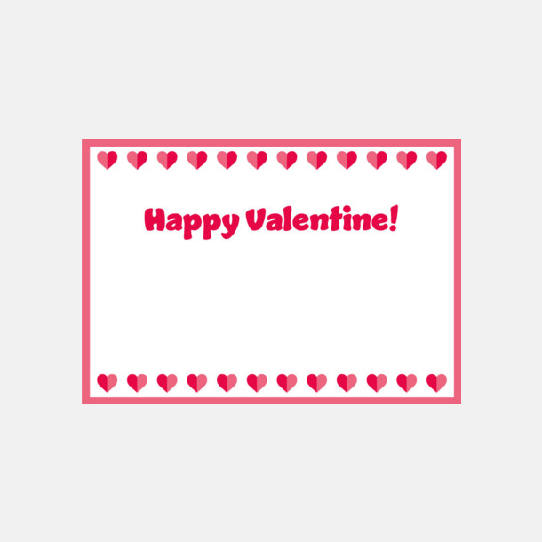 Standardmotiv kort (se tillval) Romantiska askar till alla hjärtans dag med eget tryck