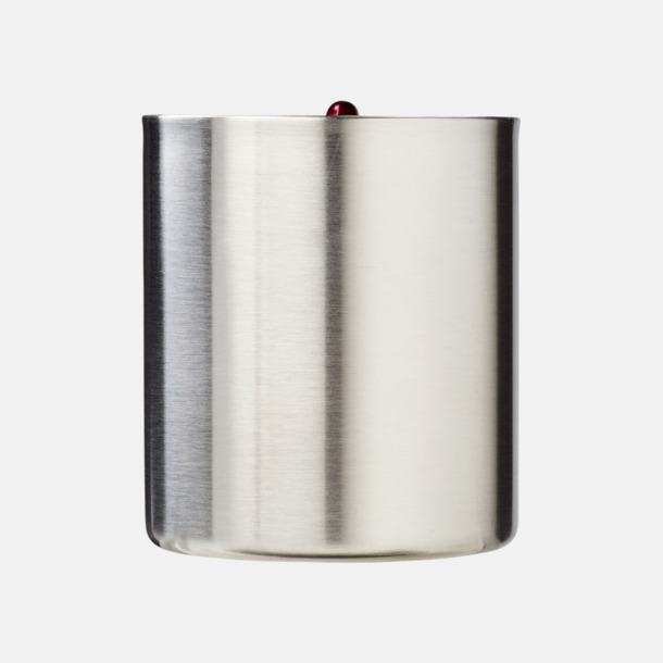 Termosmuggar i stål med karbinhakeöra med reklamtryck