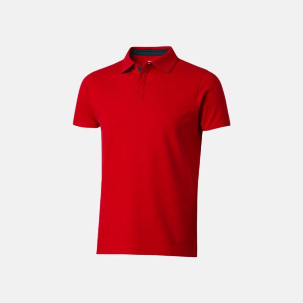 Röd/Marinblå (herr) Kvalitets pikéer i herr- och dammodell med reklamtryck