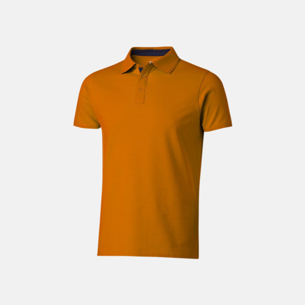 Orange/Marinblå (herr) Kvalitets pikéer i herr- och dammodell med reklamtryck