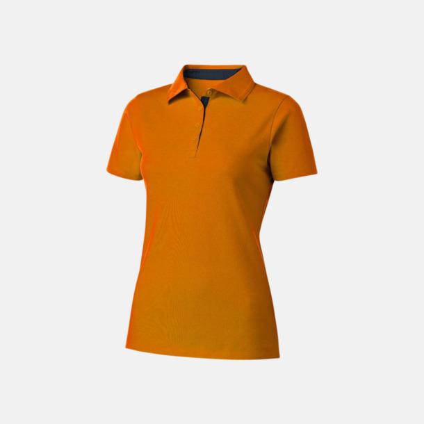 Orange/Marinblå (dam) Kvalitets pikéer i herr- och dammodell med reklamtryck