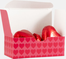 Miniaskar med två chokladhjärtan från Guylian - med reklamtryck