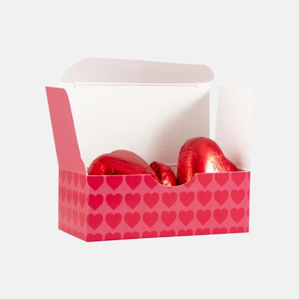 Standardmotiv ask Miniaskar med två chokladhjärtan från Guylian - med reklamtryck