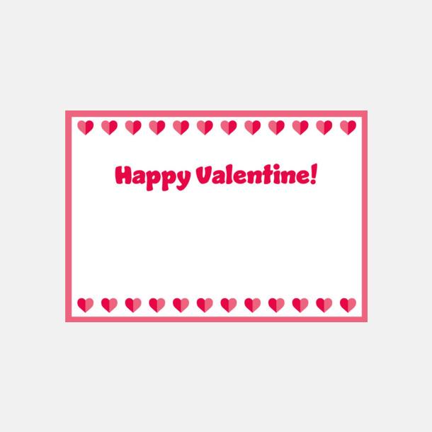 Standardmotiv kort (se tillval) Chokladhjärtan i cellofanpåse med etikett