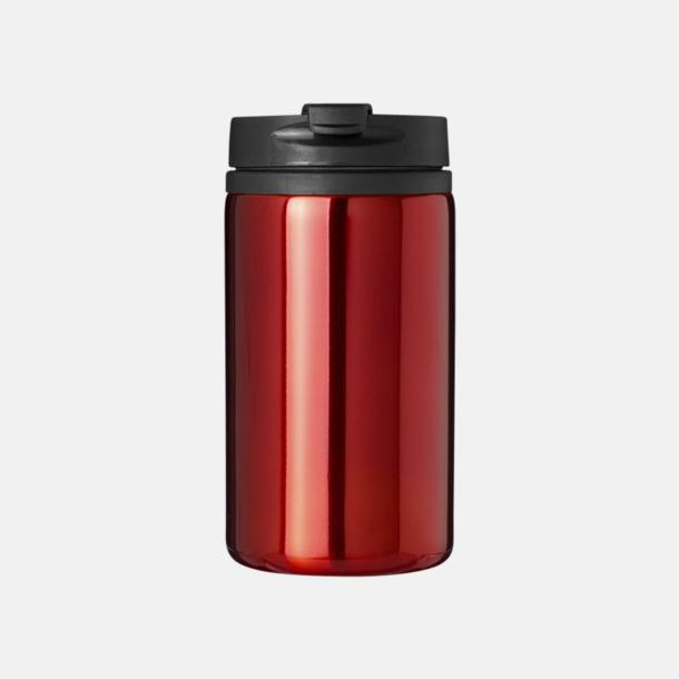 Röd Runda termos- och take away muggar med reklamtryck