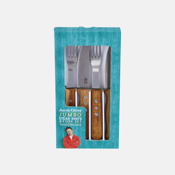 Presentförpackning 8-delars jumbo bestickset från Jamie Oliver med reklamlogo