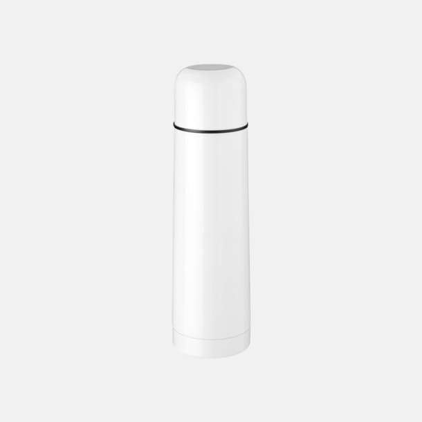 Vit Klassiska termosflaskor med reklamlogo