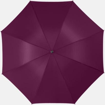 "Burgundy 30""-stormparaplyer med reklamtryck"