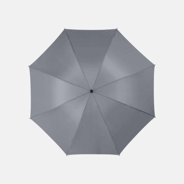"""Grå 30""""-stormparaplyer med reklamtryck"""