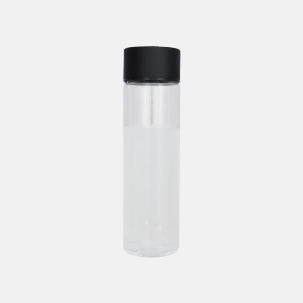 Transparent/Svart Cylinderformade vattenflaskor med reklamtryck
