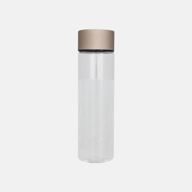 Transparent/Rose Gold Cylinderformade vattenflaskor med reklamtryck