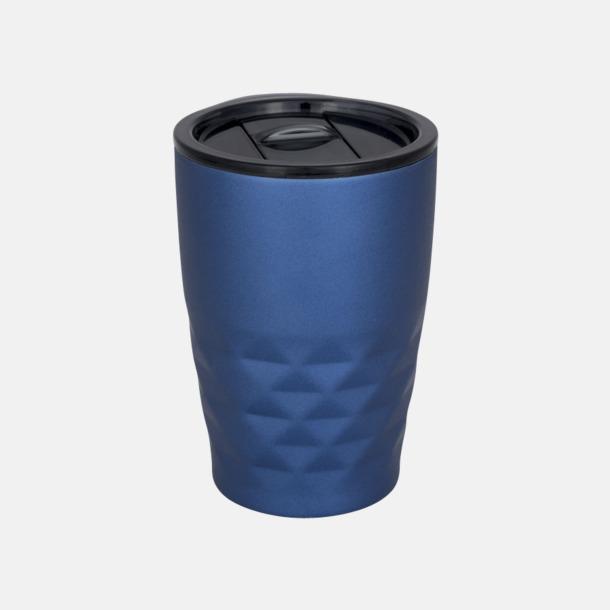 Blå Mönstrade termosmuggar med reklamtryck