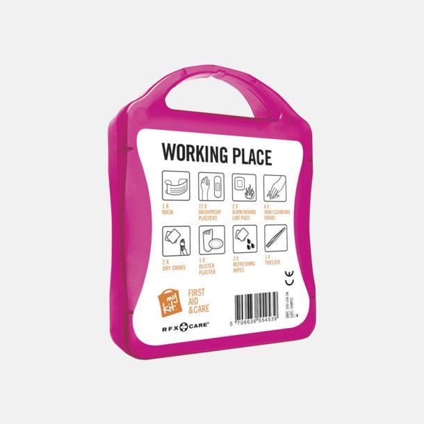 Baksida Första hjälpen kit for arbetsplatser - med reklamtryck