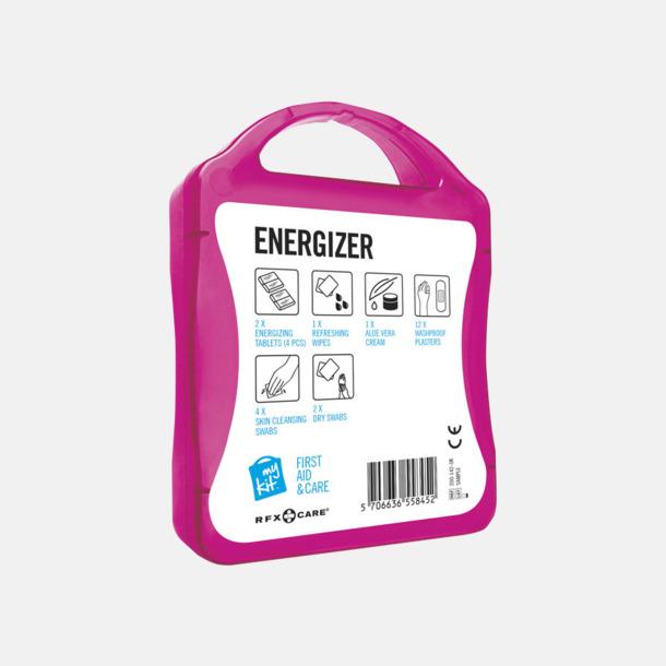 Baksida Energifyllt första hjälpen-kit med reklamtryck