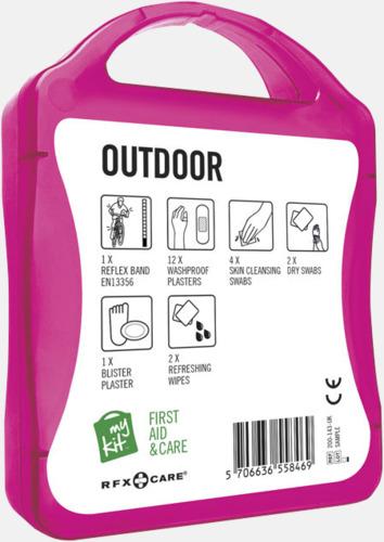 Baksida Första hjälpen-kit för vildmarken - med reklamtryck