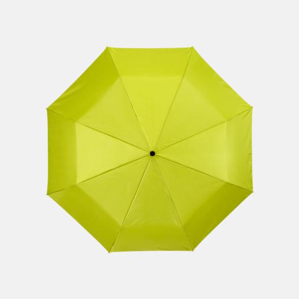 Neongrön/Silver Kompakta paraplyer med eget reklamtryck