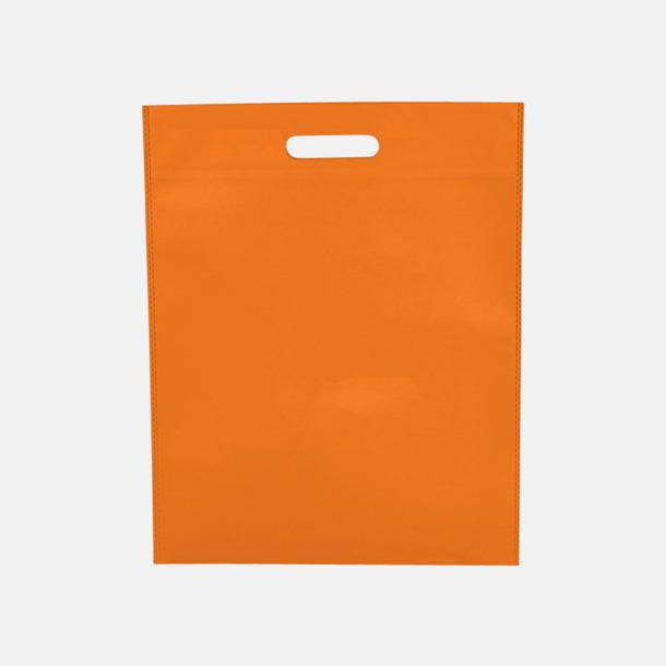 Orange Stora påsar med stansade handtag - med reklamtryck