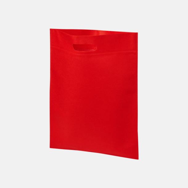 Röd Stora påsar med stansade handtag - med reklamtryck