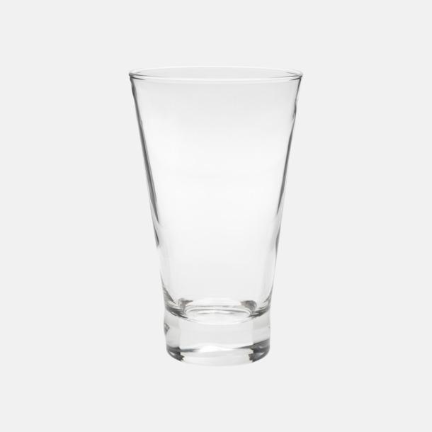 Transparent Unika glas med reklamtryck