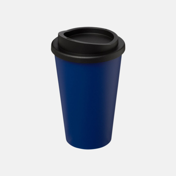 Blå/Svart (utan grepp) Fina take away-muggar med reklamtryck