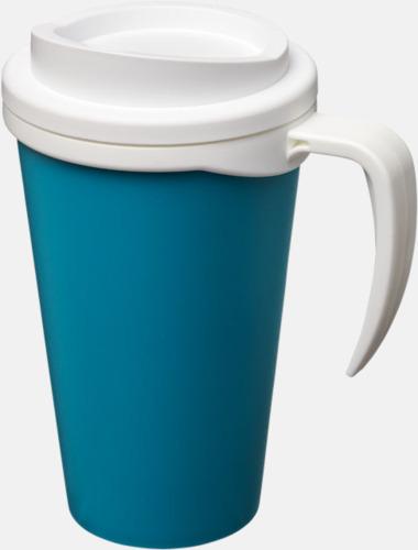 Aqua/Vit Take away muggar med öra - med reklamtryck