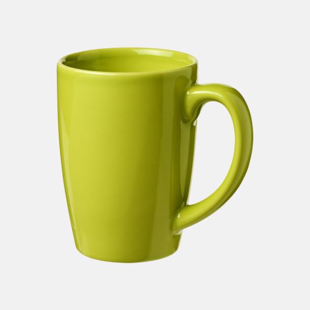 Limegrön 35 cl keramikmuggar med reklamtryck