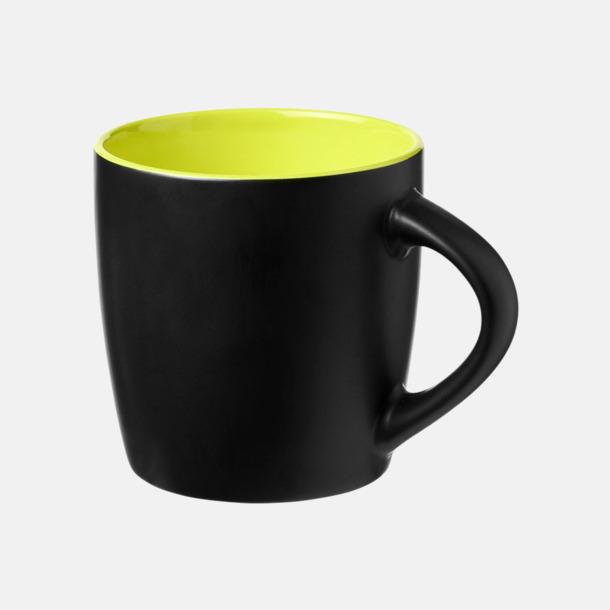 Svart / Limegrön Matta eller blanka muggar med reklamtryck