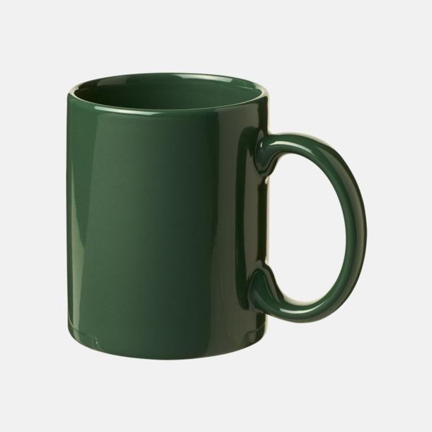 Grön Fina keramikmuggar med reklamtryck