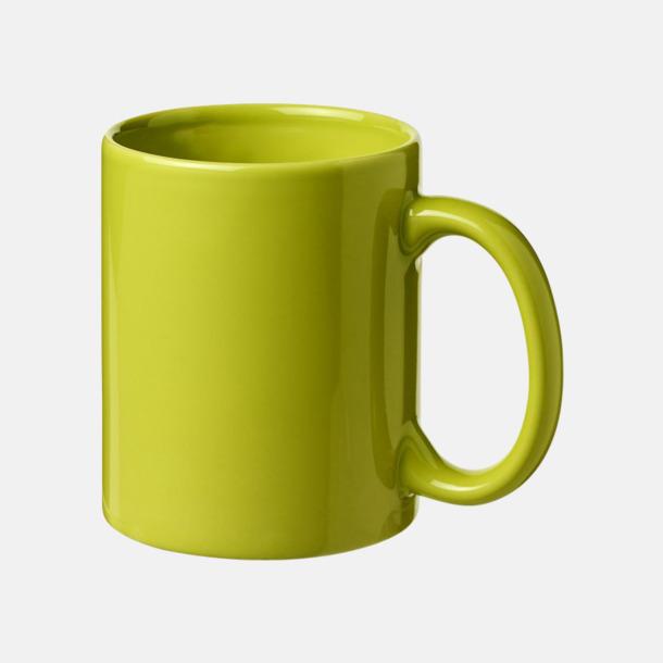 Limegrön Fina keramikmuggar med reklamtryck