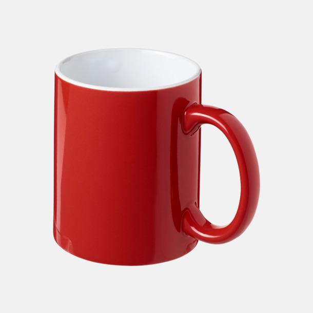 Röd / Vit Fina keramikmuggar med reklamtryck