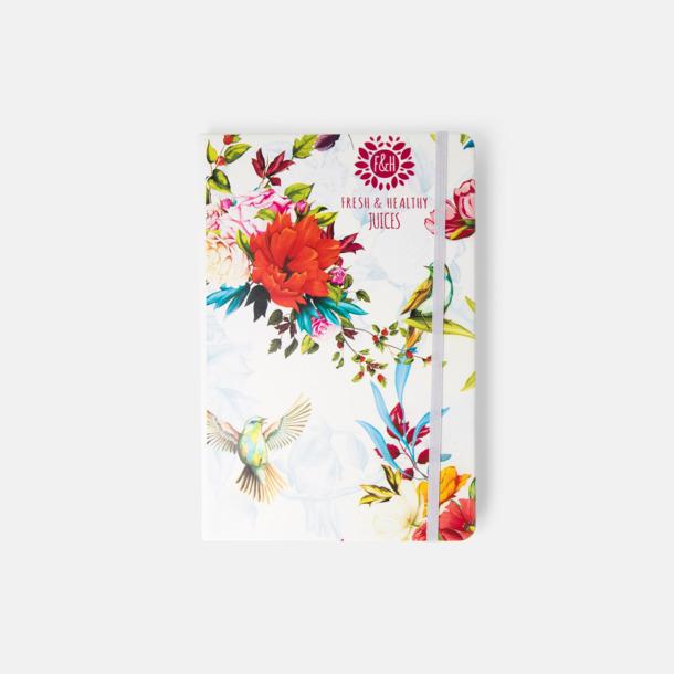 A5-böcker med kontrasterande färger med reklamtryck