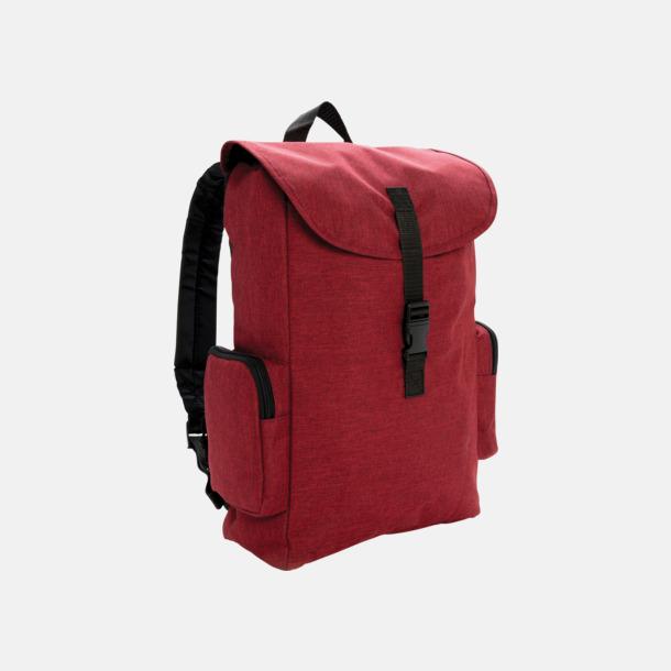 """Röd 15"""" laptopryggsäck med reklamtryck"""