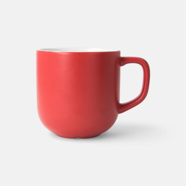 Röd 25 cl kaffemuggar med reklamtryck