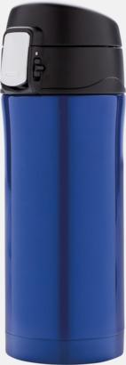 Blå Termosmuggar med låsbart lock med reklamtryck