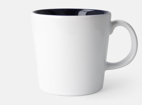 Vit Fina kaffemuggar med reklamtryck