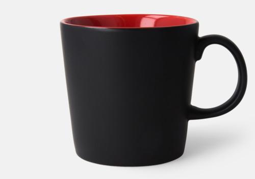 Svart / Röd Fina kaffemuggar med reklamtryck