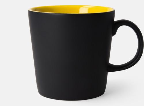Svart / Gul Fina kaffemuggar med reklamtryck