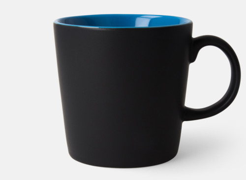 Svart / Blå Fina kaffemuggar med reklamtryck