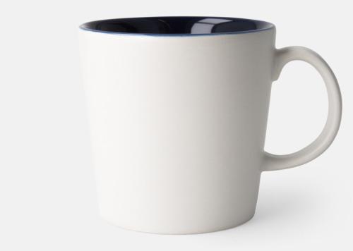 Vit / Blå Fina kaffemuggar med reklamtryck