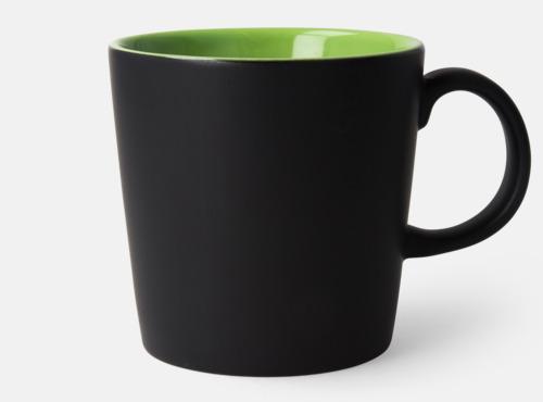 Svart / Limegrön Fina kaffemuggar med reklamtryck