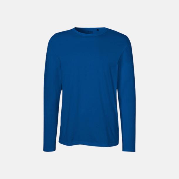 Långärmad Royal (herr) Fitted t-shirts i ekologisk fairtrade-bomull med tryck