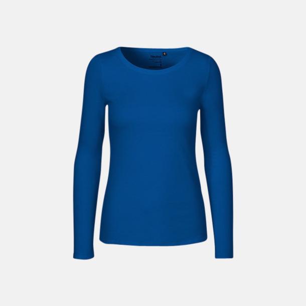 Långärmad Royal (dam) Fitted t-shirts i ekologisk fairtrade-bomull med tryck