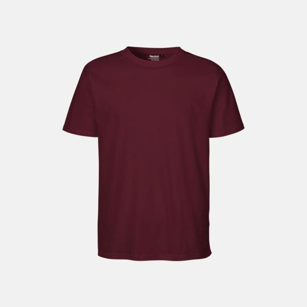 Bordeaux Ekologiska fairtrade t-shirts med tryck