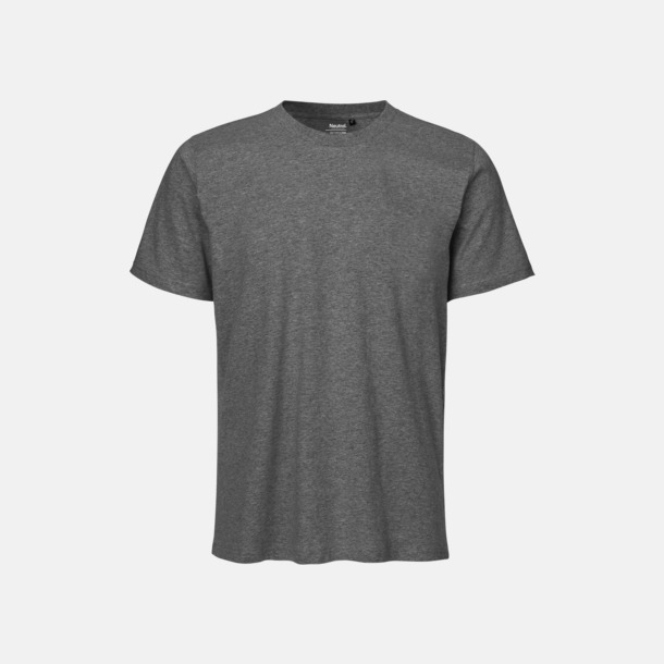 Dark Heather (melange) Ekologiska fairtrade t-shirts med tryck