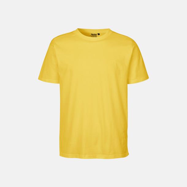 Gul Ekologiska fairtrade t-shirts med tryck