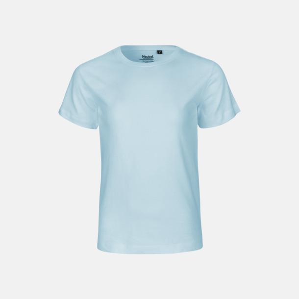 Ljusblå Ekologiska t-shirts för barn av ekologisk bomull - med tryck