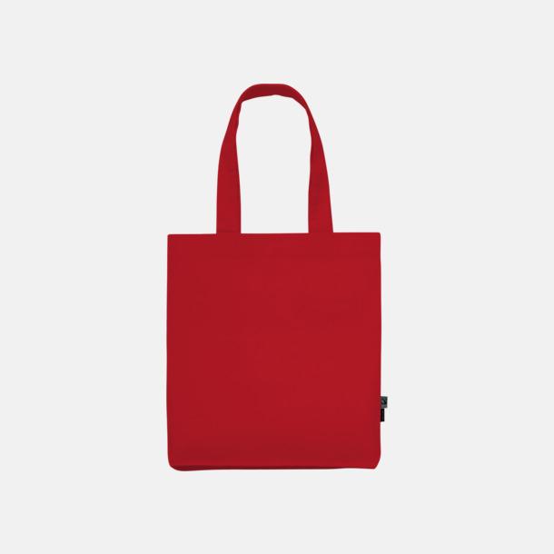 Röd Kassar av Fairtrade-certifierad, ekologisk bomull med reklamtryck